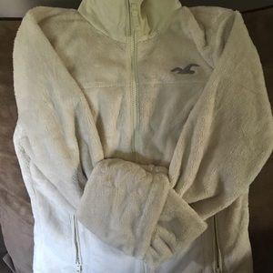 Cream hollister jacket
